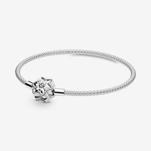 Brand New Pandora Snowflake Clasp Mesh Bracelet S